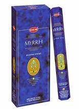 Hem MYRRH Incense Sticks Beautiful Handmade Natural Fragrance 6 x 20= 120 Stick - $14.76