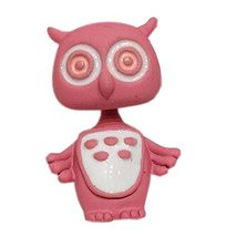 Creative Individuality Earrings Exaggerated Cartoon Owl Earrings, Pink