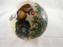 """Barry Patch Christmas Ornament Decoupage Forest  Christmas 1977 Reflection 4.5"""" - $7.71"""