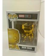 Funko POP Bobble Marvel Studios 10 YEARS Iron Man Chrome Collectible Fig... - $19.39