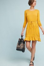 NWT Anthropologie Ingrid Tiered-Ruffle Dress By Dolan Left Coast $158 S,... - $41.60