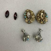 REPAIR Lot Vintage Designer Signed ART Arthur Pepper And STAR Earrings B... - $15.80