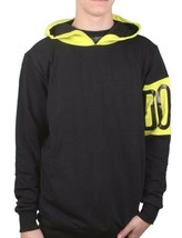 Dope Couture Black Yellow Color Blocked Pullover Hoodie D1114-J226 NWT