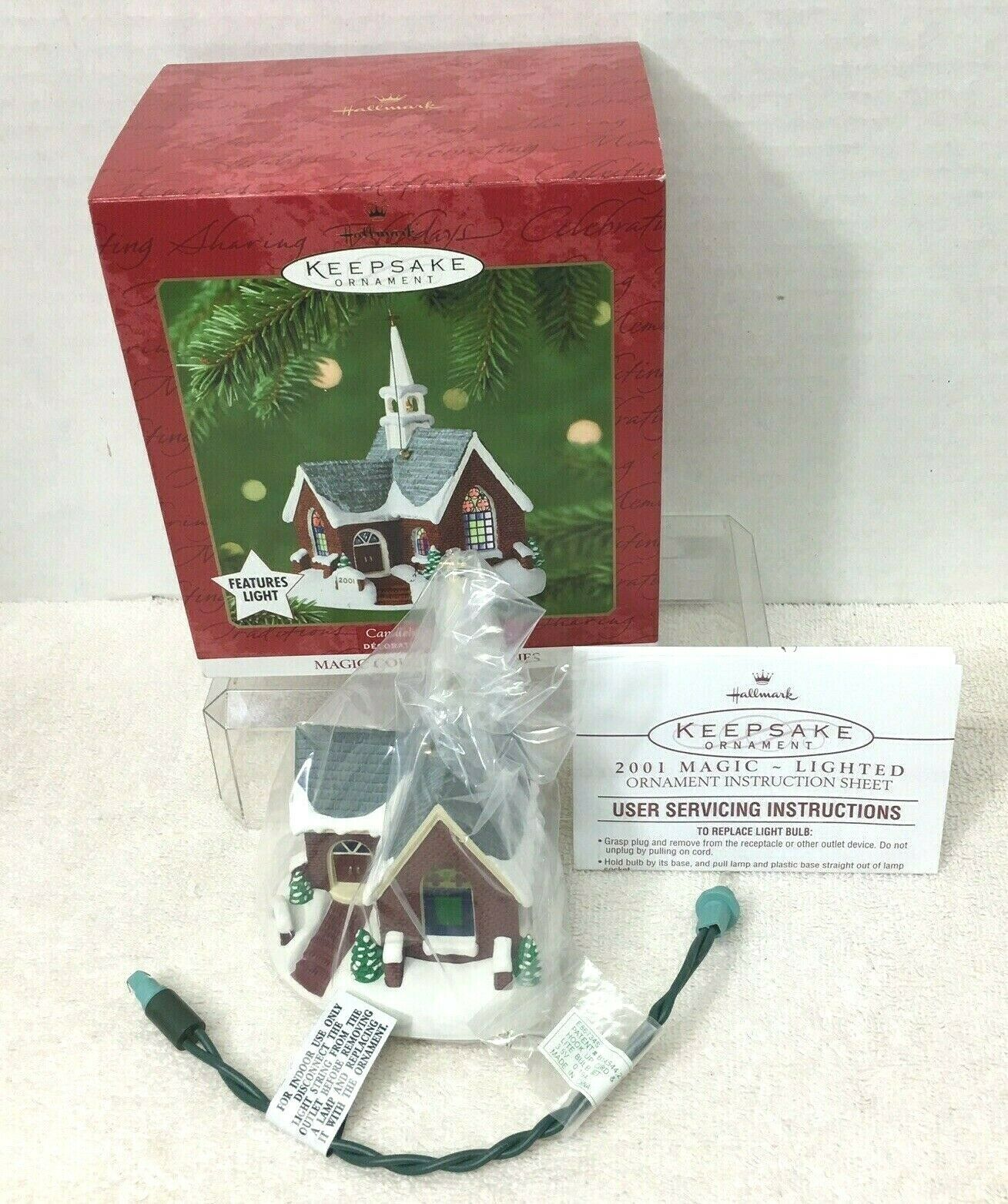 Primary image for 2001 Candlelight Services #4 Hallmark Christmas Tree Ornament MIB PriceTag Magic