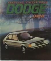 1984 Dodge Omni  and SE Deluxe Sales Brochure Catalog - $7.50