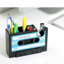 Creative Retro Cassette Tape Pen Box Office Desk Tidy Pencil Case Storag... - $28.76 CAD
