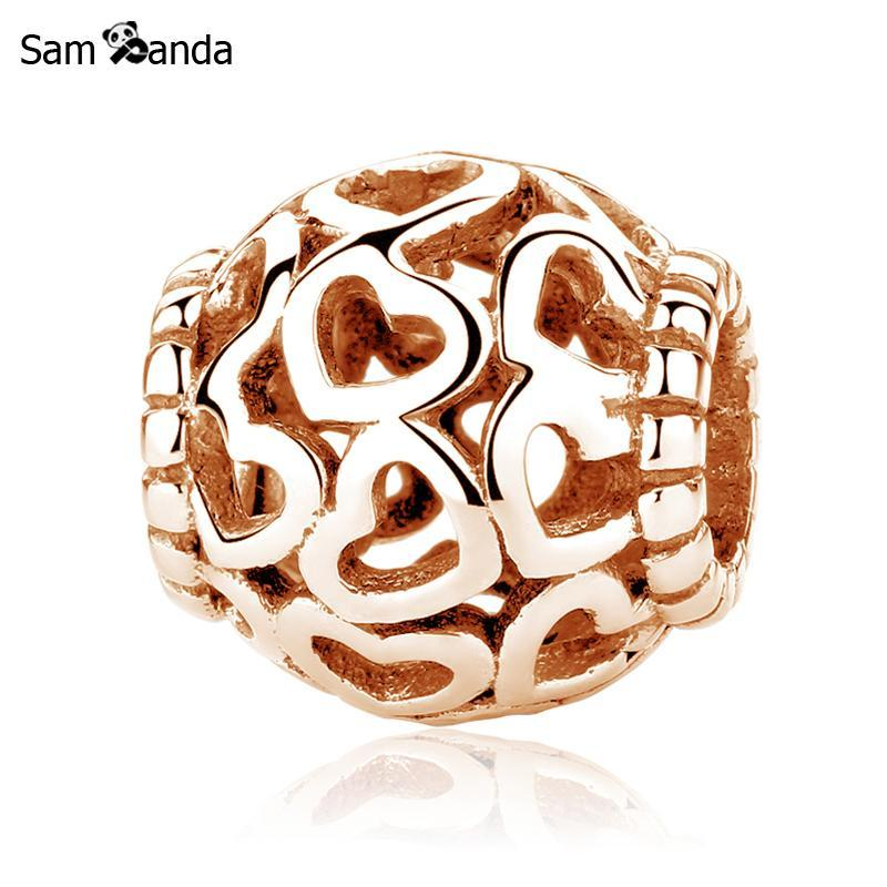 Primary image for Buy Original 100% 925 Sterling Silver Charm Bead Open Your Heart Filigree Charms