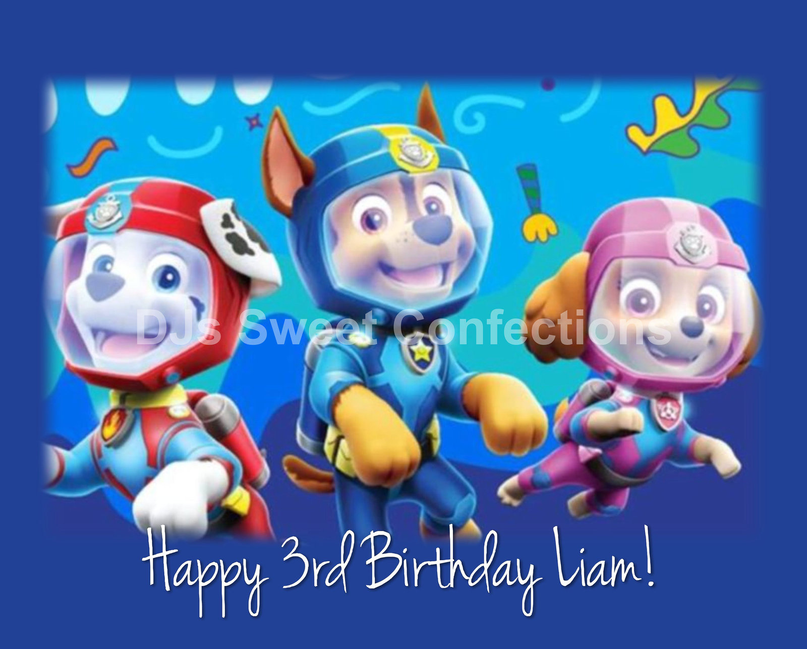 Paw Patrol Under The Sea Cake Topper Candles Toppers