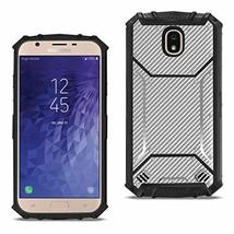 Reiko Samsung Galaxy J7 (2018) Carbon Fiber Hard-Shell Case in Gray - $10.74
