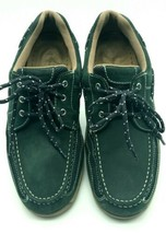 Men's GH Bass & Co Earl  Size 12M Boat Shoes Hunter Green Leather 209 - $24.98