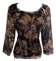 Spencer Jeremy Size M NWOT Stretchy Lined Nylon Top Tropical Print - $9.49