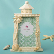 LIGHTHOUSE Design Photo FRAME 4X6 NAUTICAL FRAME Beach Theme Seashell Pa... - €10,12 EUR