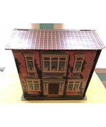 RARE e.1900's Cardboard Chromolithograph Fold Up Dollhouse 2 Story McLoughlin ? - £396.85 GBP