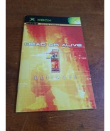 Dead or Alive 1 Ultimate Microsoft Xbox Instructions - $2.97