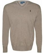 Ralph Lauren Men's Polo V-Neck Pima Cotton Pony Logo Sweater NATURAL S L... - $74.76+