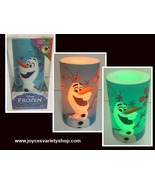 Flameless LED Candle Frozen Olaf Flicker Color Changing NIB AA Batteries - $9.99