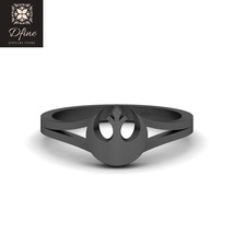 Sci Fi Theme Womens Geeky Anniversary Ring Star Wars Jewelry Rebel Alliance Ring - $329.99
