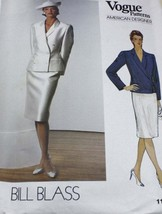 1980's Vintage VOGUE 1158 Misses' Jacket & Skirt Bill Blass Pattern Size 12 - $19.50