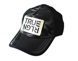 True Religion Men's Black True Logo Womens Baseball Trucker Hat Cap TR1965 - $49.47