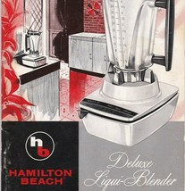 Hamilton Beach Deluxe Liqui-Blender Owners Manual Instruction Booklet Re... - $9.54