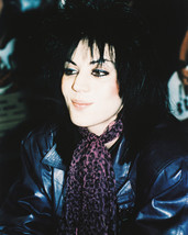Joan Jett 16x20 Canvas Giclee Cool In Black Leather Jacket Candid Rare Photo - $69.99