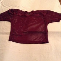 Rawlings football jersey shirt Boys Youth XL maroon practice mesh sport ... - $10.99