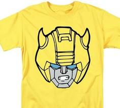 Transformers Bumble Bee Head T-shirt retro 80s toys saturday cartoon yellow tee image 1