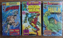 Marvel 1991 Characters- Iron-man- Sub-Mariner- The Incredible Hulk Video... - $34.00