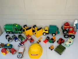 LOT OF 22 TONKA Assorted Truck Rescue Police Tractor Loader Helicopter H... - $49.49