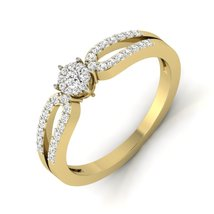 Engagement Halo Diamond Ring Jewelry Gift For Her 925 Sterling Silver Band Gift  - $99.99