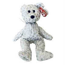 Ty Beanie The Beginning Bear White with Silver Star Collectable Retired ... - $12.00
