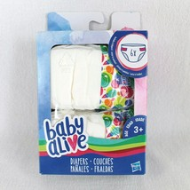 Baby Alive Diapers 6 Pack Refill Doll Accessory - $8.99