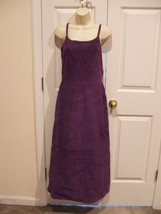 Nwt $299 Newport News Purple Soft Suede Fully Lined Long Dress Sleeveless Size 8 - $118.79