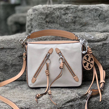 Tory Burch Medium Canvas Moto Cross-Body Bag - $382.00