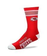 NEW! Kansas City Chiefs NFL 4 Stripe Deuce Large Crew Socks Fits 10-13 - $14.80