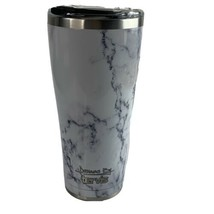 Tervis 1284376 Marble Swirl Stainless Steel Tumbler with Clear and Black... - $26.14
