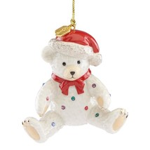 Lenox 2018 Holiday Gems Annual Ornament Teddy Bear Figurine Christmas Gi... - $34.65