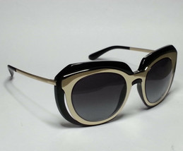 Dolce&Gabbana DG6104 Women Sunglasses Black Gold Butterfly Made in ITALY - $140.65