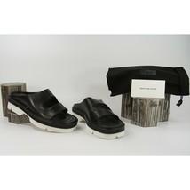 Dries Van Norten Black Calf Leather Cut Out Lug Sole Sandals Size 39.5 9.5 NIB - $360.86
