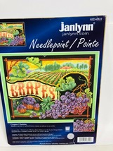 Janlynn Grapes Raisins Pillow Needlepoint Baatz 023-0322 14.75x11 Open/Complete - $47.51