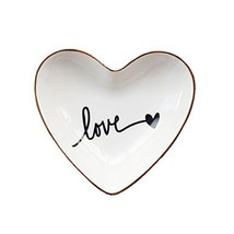 CHOOLD Original Ceramic Heart Shape Ring Dish Holder Jewelry Dish Trinke... - ₹1,156.32 INR