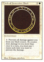 Magic: The Gathering 3rd Edition - Circle of Protection: Black - $0.25