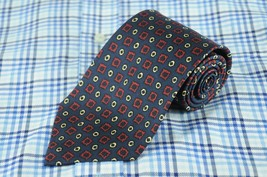 POLO Ralph Lauren Men's Navy Red & Ivory Printed Silk Necktie 58 x 3.75 in. - $26.99