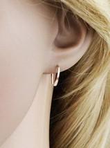 Rose Gold Earrings, Hoop Earrings, Minimalist Earrings, Open Horseshoe H... - $29.99+