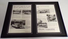 1962 Chrysler Newport Dodge Dart Framed ORIGINAL 12x18 Advertising Display - $65.09