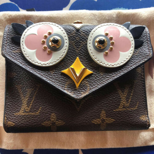 Primary image for LOUIS VUITTON Porutofoiyu Victorine Monogram Owl trifold wallet Limited version