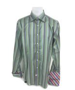 Ted Baker Endurance Men's Multi-Color Striped Flip Cuff Button Dress Shi... - $27.89