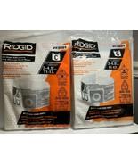 RIDGID 23738 VF3501 High-Efficiency Wet Dry Vacuum Filters 2 Pack Lot of... - $23.36