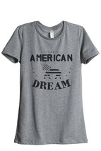Thread Tank American Dream Unicorn Women's Relaxed T-Shirt Tee Heather Grey - $24.99+