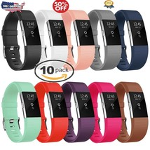 10 Pack Replacement Wristband For Fitbit Charge 2 Band Silicone Fitness ... - $282,80 MXN